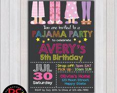 Fiesta de pijamas invitación fiesta de pijamada por partymonkey