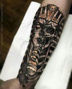Bastet Tattoo, Catrina Tattoo, Anubis Tattoo, Hamsa Tattoo, Sanskrit Tattoo, Bull Tattoos, Leg Tattoos, Tattoos For Guys, Dragon Tattoos