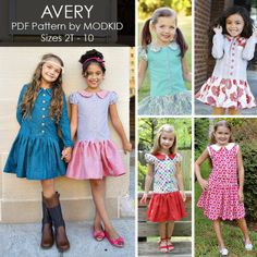 AVERY Dress Pattern by MODKID | YouCanMakeThis.com