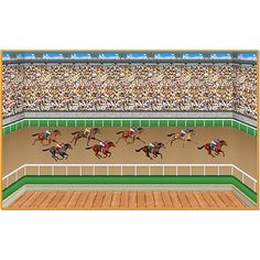The Derby Scene Setters will turn your wall into a day at the horse racing track. When combined, the Derby Plastic Scene Setters will cover a 8 foot high area.