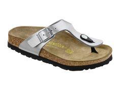 1525117cb067 Birkenstock Gizeh BS Graceful Silver Birko-Flor Thong Sandals Women s Size 38  M