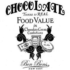 Vintage Chocolate Printable -  facilisimo.com