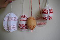 Süti és más...: Húsvéti tojásdíszítés DIY Egy minta - 5 technika Techno, Diy, Bricolage, Do It Yourself, Techno Music, Homemade, Diys, Crafting