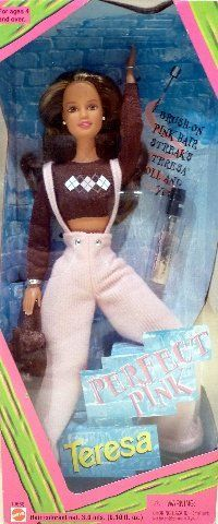 Barbie Teresa Doll PERFECT PINK by Barbie. $29.93. Fashion Barbie Doll. Brush on Perfect Pink cool color streaks for Teresa and you