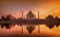 The Taj Mahal .It was declared a UNESCO World Heritage Site in 1983, and is also one of the Seven modern Wonders of the World.
