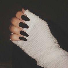 Imagem de nails, black, and grunge