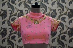 Choli Blouse Design, New Blouse Designs, Saree Blouse Neck Designs, Mirror Work Blouse, Designer Blouse Patterns, Collor, Sleeve Designs, Indian Designer Wear, Blouse Styles