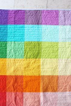 super simple rainbow quilt