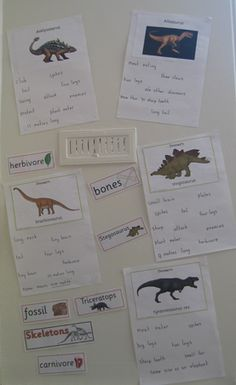 Dinosaur facts and figures.