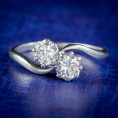 ANTIQUE EDWARDIAN DIAMOND TWIST RING PLATINUM 0.80CT OF DIAMOND CIRCA 1910 cover