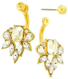 Affordable Jewelry Statement Gold Crystal Ear Jacket Double Sided Ball Stud Back Front Women's Earrings NEW Trend Affordable Wedding Jewelry http://www.amazon.com/dp/B019G4Q3BK/ref=cm_sw_r_pi_dp_xPQCwb0YJWG6P