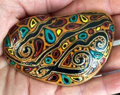 Boho Rock Garden rocas Set / pintadas / Sandi por LoveFromCapeCod