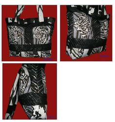 Bolso animal print con textura y bloques de patchwork  Animal print bag and textured patchwork blocks