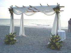 Wedding, Ceremony, Beach, Tropical, Flowers by fudgie, Canopy, Chuppa - Project Wedding