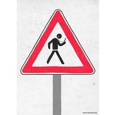 Caution – Smartphone junkies crossing (50 Mindshots on Behance)