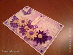 Открытка День рождения Квиллинг открытка Бумага Бусины фото 1
