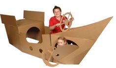 Cardboard Pirate Ship Playhouse by Learning From Play | eBay