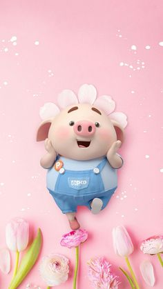 Pig Wallpaper, Funny Phone Wallpaper, Animal Wallpaper, Disney Wallpaper, Wallpaper Backgrounds, This Little Piggy, Little Pigs, Cute Piglets, Pig Illustration