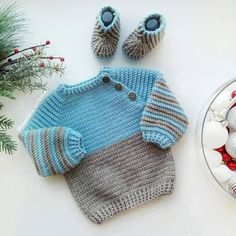 its so beary cute this Crochet Baby Sweater Pattern, Baby Boy Knitting Patterns, Crochet Baby Sweaters, Crochet Baby Jacket, Knitted Baby Cardigan, Baby Girl Sweaters, Knitted Baby Clothes, Crochet Clothes, Crochet For Boys