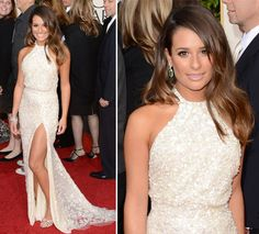 GOLDEN GLOBES 2015 - Lea Michele - Vestido Elie Saab