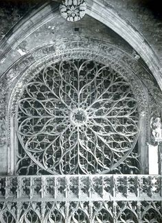 Rouen Cathedral: Rose window