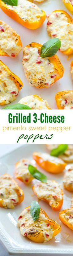 Stuffed with three different kinds of cheese and lots of pimentos, these addicting sweet pepper poppers are going to make you the most popular person at the party! @WholeHeavenly