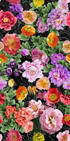 Flowery Wallpaper, Flower Phone Wallpaper, Cellphone Wallpaper, Flower Wall, Flower Prints, Graffiti, Design Studio, Fractal Art, Art Images