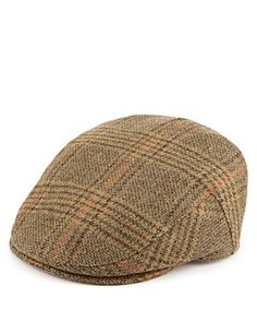4164a70bc06 Pure Wool Checked Flat Cap with Thinsulate™   Stormwear™ Gatsby Hat