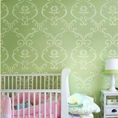 Stencil pattern Simple Rhyme - Reusable stencils for DIY nursery kids room decor - Amazon.com