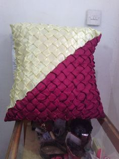"""Maroon yellow cushion covers size18""""*18"""