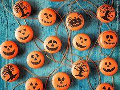 Podzimní makronky (čokoládová ganache, zázvor, skořice) Macarons (chocolate ganache, ginger, cinnamon) www.peknevypecenyblog.cz