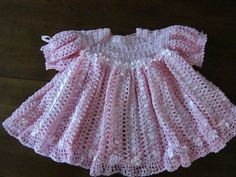 Pink Crocheted Dress by HookandSew on Etsy, $55.00