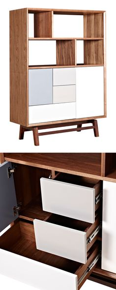 Who knew storage units could look so good? With its collection of open cubbies and brightly finished drawers and doors, this Blox Storage Unit boasts a chic, contemporary silhouette. This handsome and ...  Find the Blox Storage Unit, as seen in the Modern Mid-Century Recreation Collection at http://dotandbo.com/collections/modern-mid-century-recreation?utm_source=pinterest&utm_medium=organic&db_sku=115609