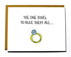 Hey, I found this really awesome Etsy listing at https://www.etsy.com/listing/182855106/lord-of-the-rings-funny-wedding-card