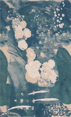 Toile bleue avec des fleurs gris-marron par Kokka Japon - Tissus à Fleurs - Tissus - boutique kawaii modeS4u