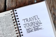 simple travel journal that I've been keeping along the way! The concept is simple... Purchase (or make) a journal you love and bring a small pair of scissors and a roll of tape with you as you travel. Each day add bits and pieces from your travels. I've saved receipts, menus, airplane tickets, photo booth pics and more. ABM