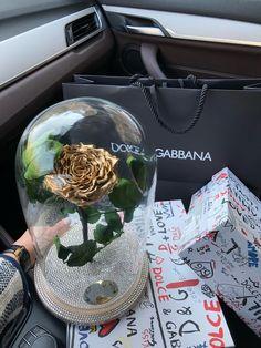 Cupola cu trandafir criogenat si cristale swarovski