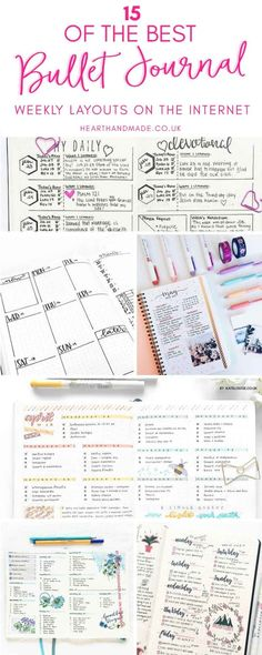 Are you in search of Super Pretty Bullet Journal Weekly layouts? This post had great bullet journal inspiration so you can create your own gorgeous bullet journal layout. The bullet journal pages are fabulous & I love the bullet journal doodles! If you need a bullet journal weekly spread, check out this post & fill your bullet journal today! #bulletjournal #bujo #bulletjournaling #journaling
