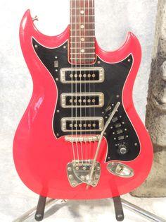 Hagstrom III 3 Electric Guitar Vintage 1960's Original Made in Sweden