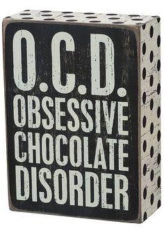 'O.C.D.' Box Sign