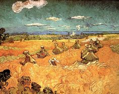 Vincent van Gogh. Wheat Stacks with Reaper. Auvers-sur-Oise: July 1890