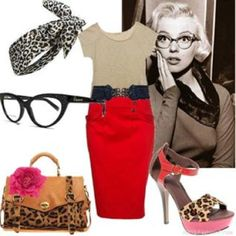 Marilyn. Leopard. Pink. Catseye glasses. My life is complete.