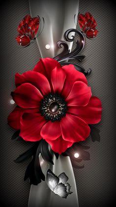 Flower&Butterflies Source by . Beautiful Flowers Images, Beautiful Flowers Wallpapers, Beautiful Nature Wallpaper, Flower Images, Pretty Wallpapers, Beautiful Roses, Flower Art, Rose Flower Wallpaper, Flower Background Wallpaper
