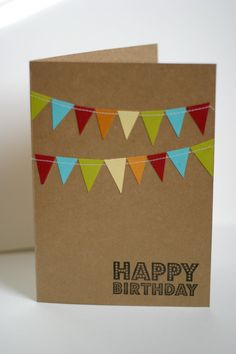 Simple & classy birthday card, more masculine than some, depending on the colors you use.