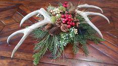 CUSTOM ORDER ARRANGEMENT Woodland Christmas Antler Centerpiece