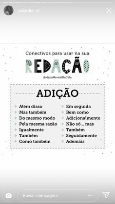 adição conectivos Study Helper, Portuguese Lessons, Study Organization, Study Inspiration, Study Notes, School Hacks, Study Motivation, Student Life, Study Tips