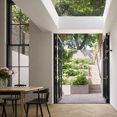 Simple, sleek and relaxed elegance - a wonderful project to have been involved in. The Tower House in Islington. A terraced garden with a. Home Interior Design, Exterior Design, Interior Architecture, Interior And Exterior, Garden Architecture, Tower House, Courtyard House, The Design Files, House Extensions