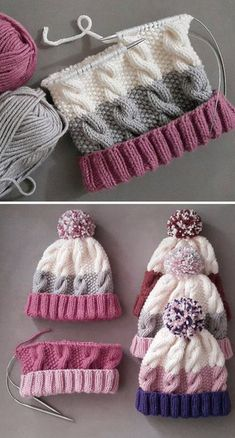 Cozy Cable Knit Hat - Free Pattern - Knitting is as easy as 3 The knitting . Cozy Cable Knit Hat - Free Pattern - Knitting is as easy as 3 Das Str . Cable Knit Hat, Cable Knitting, Vogue Knitting, Knitting Blogs, Knitting For Beginners, Baby Knitting Patterns, Knitting Stitches, Knitting Socks, Free Knitting