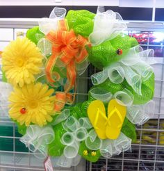 Summer Mesh wreath 2014 by kristy@michaels 1091