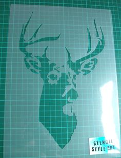 A stencil is a design cut into a sheet of plastic and when paint is applied through the cut out areas to the surface beneath, an image is formed.